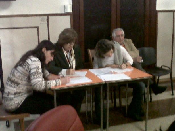 Nuevas taquígrafas: este jueves practicaron en la sesión del Concejo