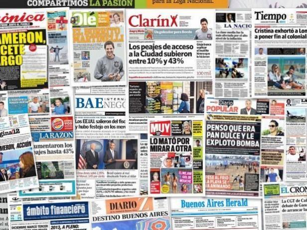 Los diarios porteños, demorados