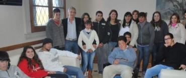 El Intendente Eseverri recibió a un grupo de alumnos del Centro de Formación Laboral N° 1