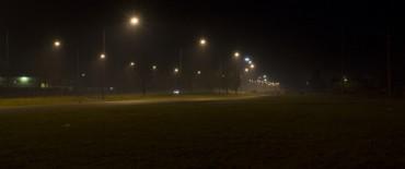Finalizó la iluminación de la avenida Eva Perón