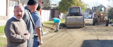Azul:  avanzan obras en barrios
