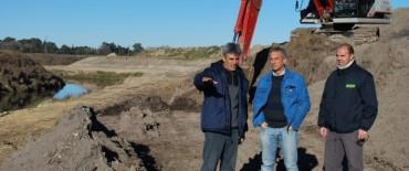 El Intendente Eseverri supervisó las obras de mejoramiento del cauce del Arroyo Tapalqué