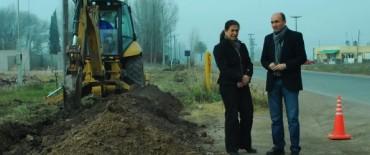 Comenzó la obra de ampliación de la red de agua en el barrio SCAC