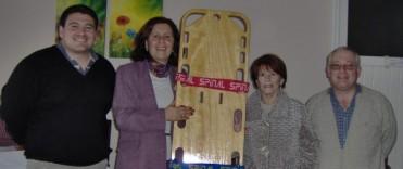 Entrega de Certificados de capacitación  en Primeros Auxilios y RCP  en el Complejo San Vicente de Paul