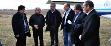 El Ministro Arlía en el acto inaugural de Repavimentación Ruta Provincial 86