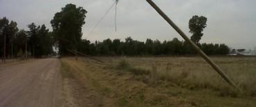 Talaron tres postes telefónicos