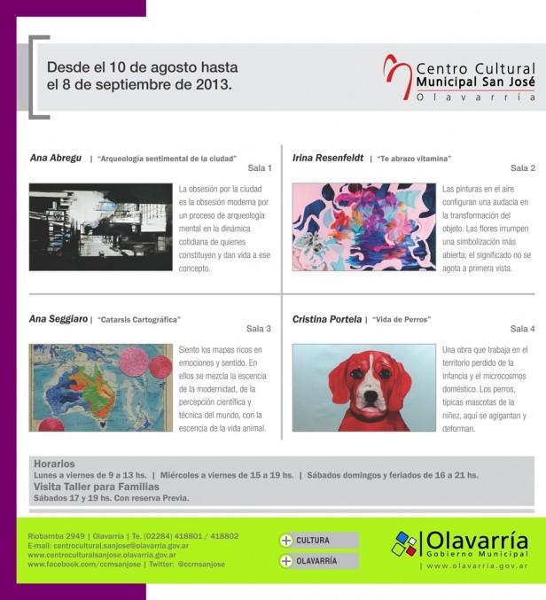 """Nueva muestra en el Centro Cultural Municipal """"San José"""""""