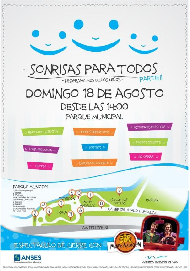 Azul:  este domingo en el parque se realizará el festejo por el día del niño