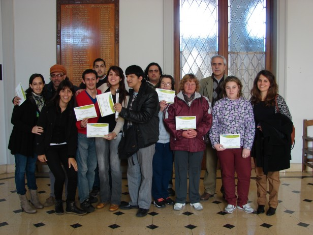 Se realizó la entrega de certificados del curso de Gestión Empresarial Realizado por la Oficina de Empleo Municipal, IDEB, y ADELO