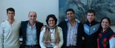 Rodríguez y Arregui recibieron a deportistas locales en la Municipalidad