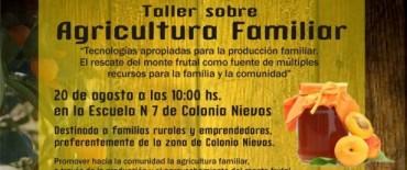 Taller de agricultura familiar en Colonia Nievas