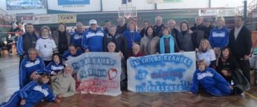 Los adultos mayores de Olavarría participaron del  Encuentro de voley adaptado en Tandil