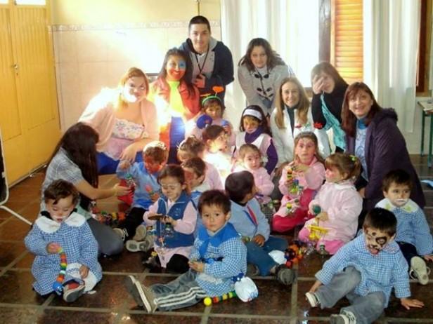 Programa Rayuela: actividades recreativas en el Jardín N° 906 de Sierra Chica