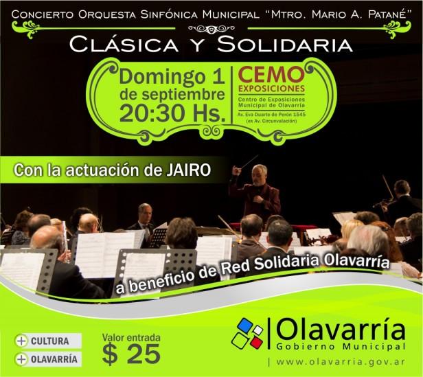 """Más de 700 entradas vendidas para el concierto """"Clásico y Solidario"""" de Jairo"""