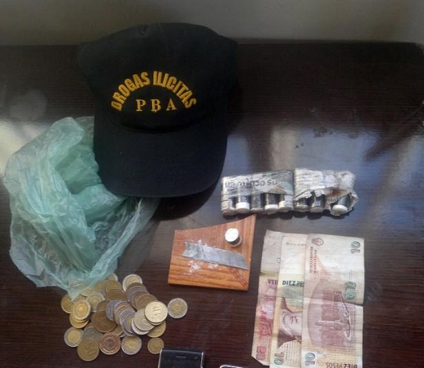 Secuestraron dosis de cocaína en un allanamiento