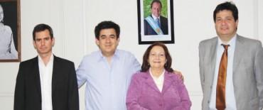Arlía  se reunió con Alicia Tabarés y José González Hueso