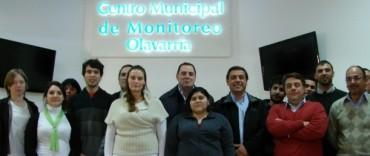 Olavarría, el primer municipio en capacitación de operadores y supervisores del Centro de Monitoreo