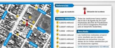 Azul: comunicado sobre la Antena de Telefonia Celular de calle Chubut