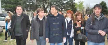 José Eseverri acompañó a Sergio Massa en su visita a la Exposición Rural de Bolívar