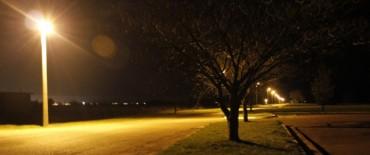 El Gobierno Municipal finalizó la obra de iluminación en el Aeródromo