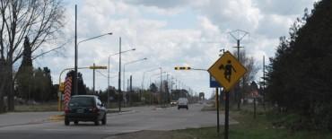 Nuevo semáforo en la Escuela Agraria