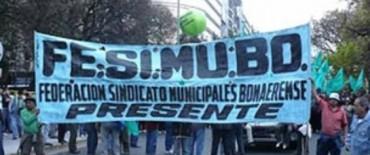 El sindicato de Municipales de Olavarría acompañó un paro en Capital