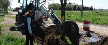 El Gobierno Municipal continúa con las obras de agua corriente en El Progreso