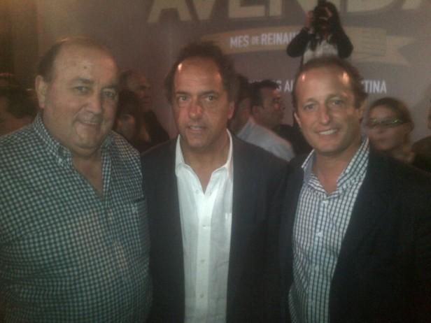 Miguel Santellán participó junto a Scioli e Insaurralde de un acto en Bolívar