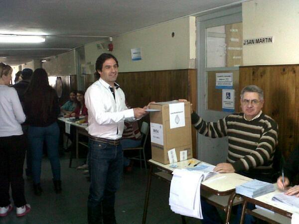 Votó el Candidato por el Frente Unidos por la Libertad y el Trabajo Pablo Salerno
