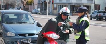 En 15 días se realizaron casi 100 actas de infracción en los controles de tránsito