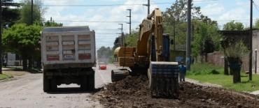 El Gobierno Municipal realiza obras de pavimentación en Hinojo