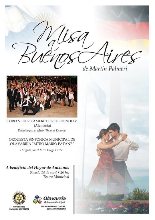 """La """"Misa Tango"""" en el Teatro Municipal"""
