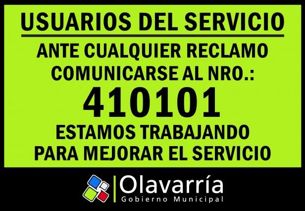 El Gobierno Municipal habilitó un número telefónico para reclamos de los usuarios de los servicios de transporte